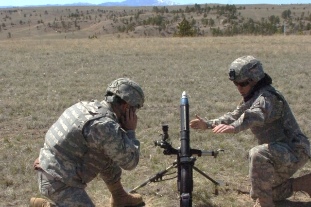 CAV Squadron mortar men consolidate to live-fire weapons systems