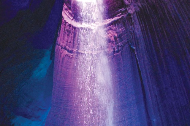 Ruby Falls has been the site for several weddings, a 1930s beauty contest and, during the Cuban Missile Crisis, a fallout shelter.