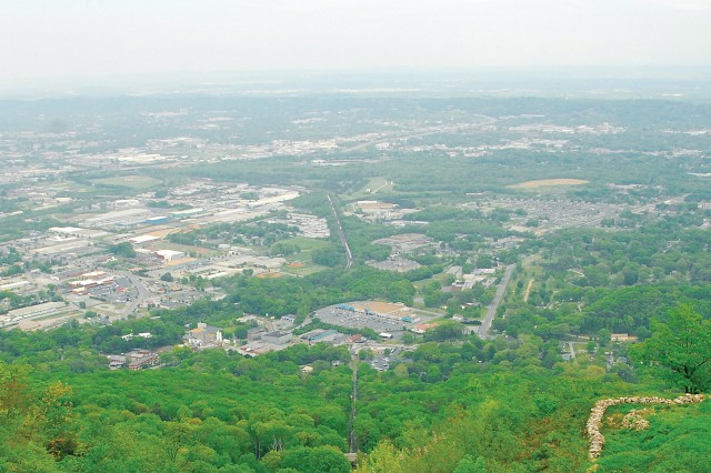 The Incline Railway boasts this view from the observation deck.