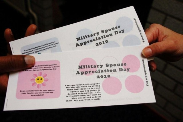 Schinnen's ACS honors military spouses with Appreciation Day Coupon Books, available free to service members and military spouses from all branches of the Armed Services throughout the month of May (while supplies last).