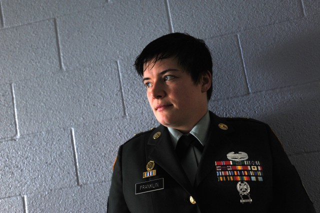 Staff Sgt. Katteri Franklin earned the Bronze Star Medal during a tour of duty in Iraq.