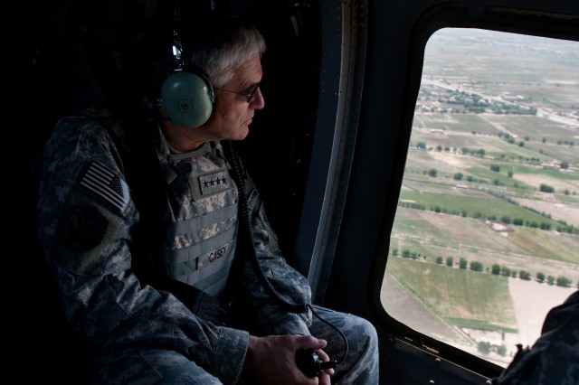Helicopter flight over Southern Afghanistan