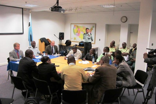 Ward discusses partnership in Botswana