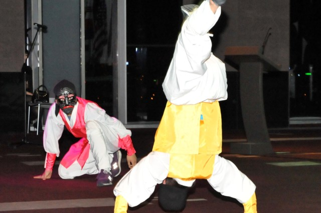Dancers perform at the first Korean Cultural Night in Seoul May 1.