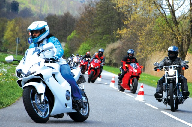 Motorcycle safety: ADAC course gives community members practical training