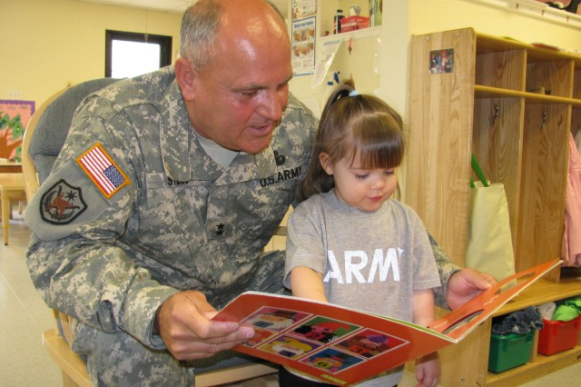 Senior Commander celebrates Month of the Military Child with young readers