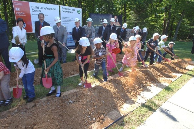 Belvoir breaks ground on new child development center