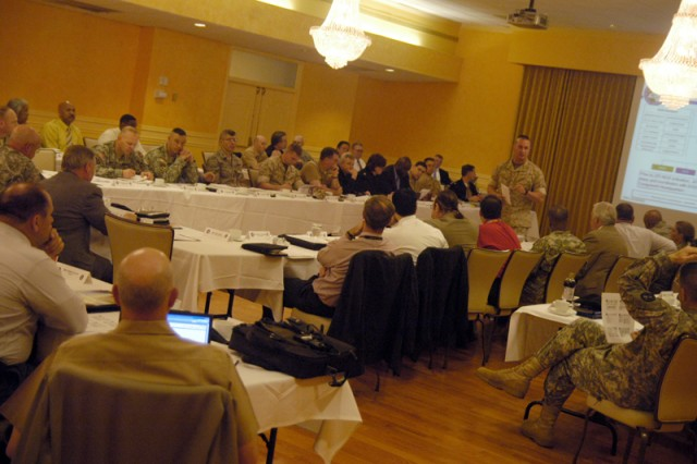 Commanders and staff from 14 installations around the National Capital Region and partner organizations met at Fort Myer\'s Spates Community Club Tuesday to discuss cooperation and logistics should a massive emergency event happen around Washington, D.C.