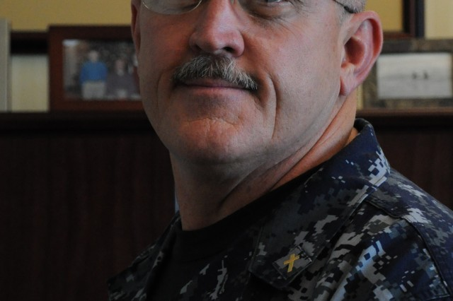 Navy Chaplain (Capt.) Michael Langston is the commanding officer of the Navy Chaplaincy School and Center.