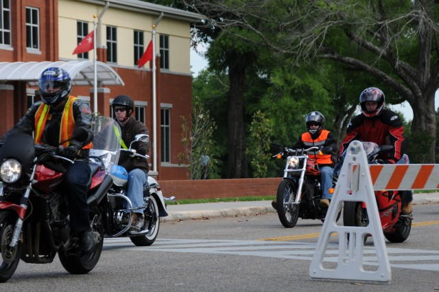Fort Rucker riders rev engines for motorcycle safety awareness