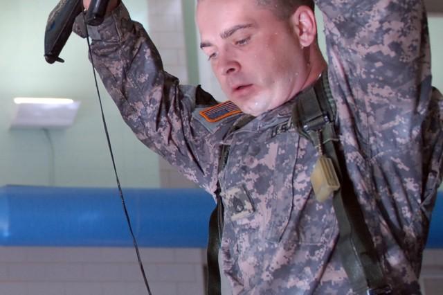 3-71 Cavalry troops learn water survival skills