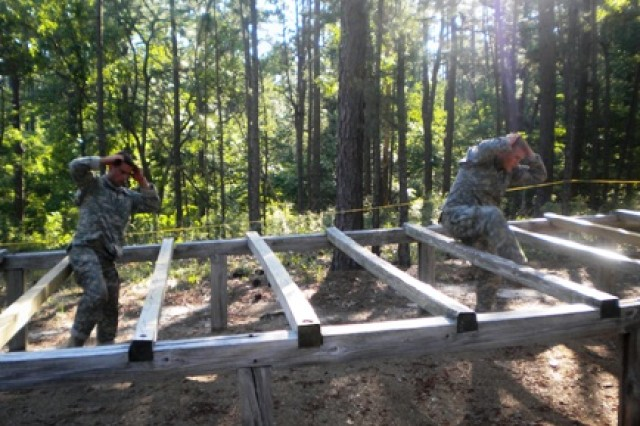 1st. Lt. Matt Schachman (left) and Capt. John Campbell, both of 2-27 Infantry Battalion, 3rd Brigade Combat Team, represent 25th Infantry Division in the Best Ranger Competition at Fort Benning, Ga., May 8, 2010.