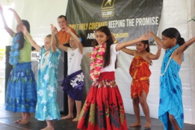Hula dancing at Sills Field, Schofield Barracks, Hawaii, May 15, 2010.