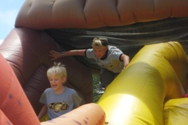 On the bouncy rides at Sills Field, Schofield Barracks, Hawaii, May 15, 2010.