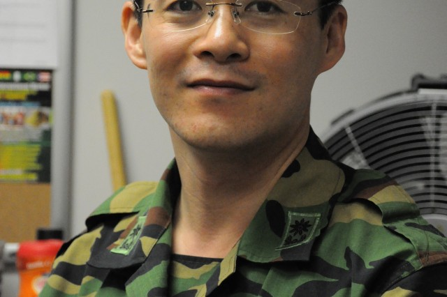 South Korean Maj. Yangwoo Woo, a student at the Financial Management School, is in the United States for the second time.