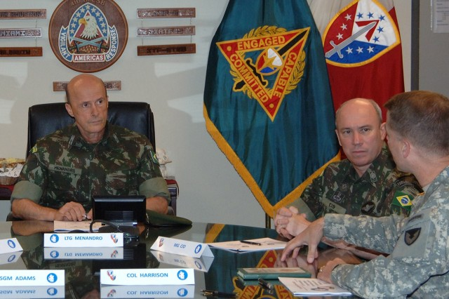 Brazilian Dignitaries visit the 410th Contracting Support Brigade