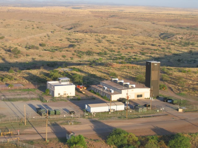 This photo of the Unmanned Aircraft System Training Battalion facility at Black Tower was taken from an ultralite aircraft about four years ago. The black tower, after which the facility is named and clearly seen in this photo, was formerly used to d...