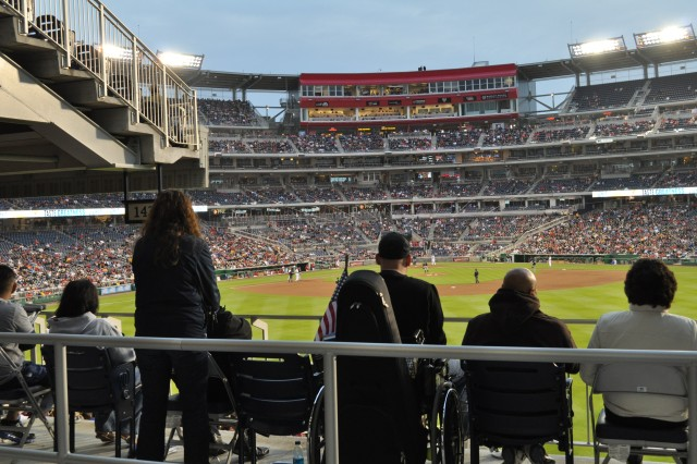 """Military families were treated to a night out at the May 19 Washington Nationals-New York Mets game at Nationals Park.  The event, hosted by Smithfield Foods, included a VIP reception prior to the game with 500 military members and families and Paula Deen, the """"Queen of Southern Cuisine""""."""