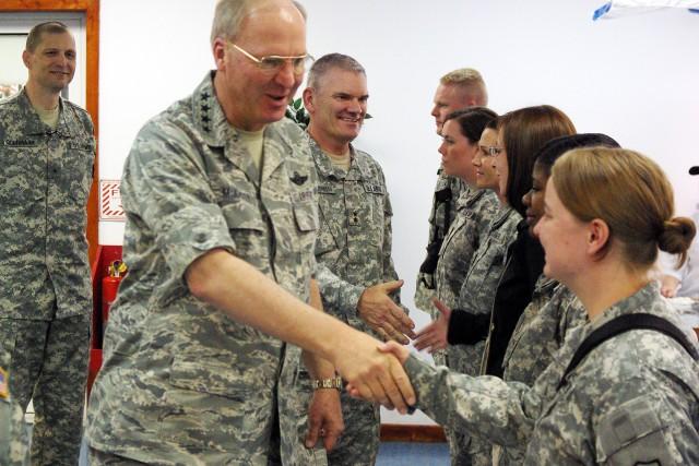 National Guard chief visits Camp Bondsteel