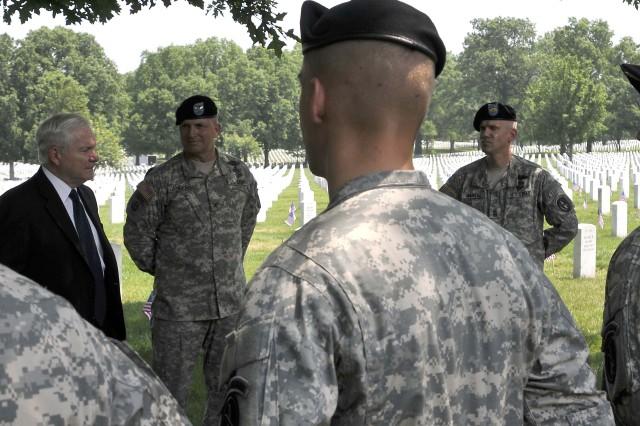 Secretary Gates visits Arlington National Cemetery