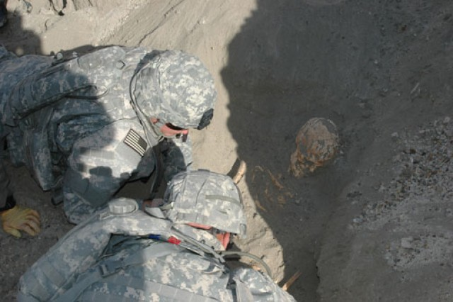 CID special agents conduct a sensitive-site exploitation in support of Operation Iraqi Freedom.