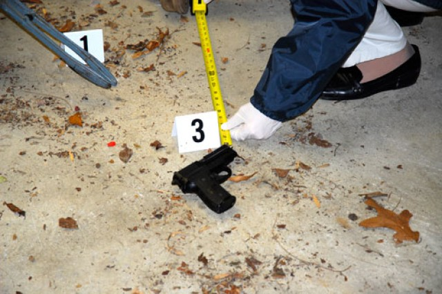 Great attention to detail is critical to CID special agents when processing crime scenes.