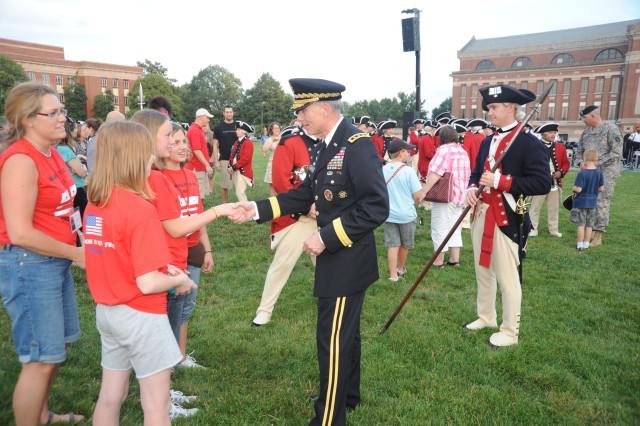 Director of the Army Staff hosts May 26 Twilight Tattoo