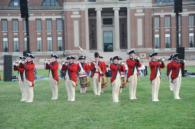 The Old Guard Fife and Drum Corps perform at the May 26, 2010 Twilight Tattoo.