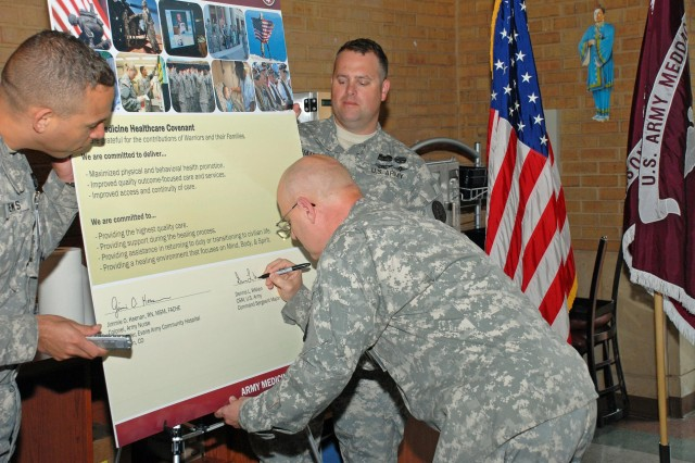 Evans Army Community Hospital signs Army Medicine Healthcare Covenant