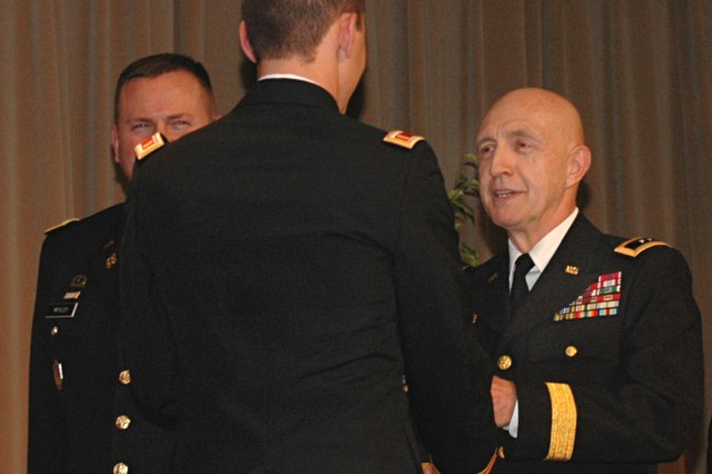 Maj. Gen. Justice helps commission new lieutenants