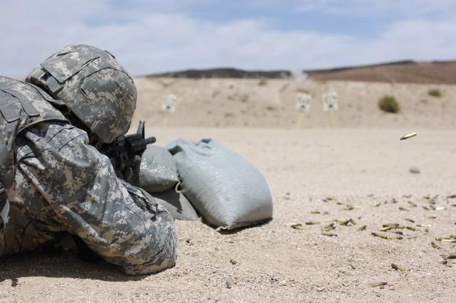 Blackhorse Troopers conduct M4 range