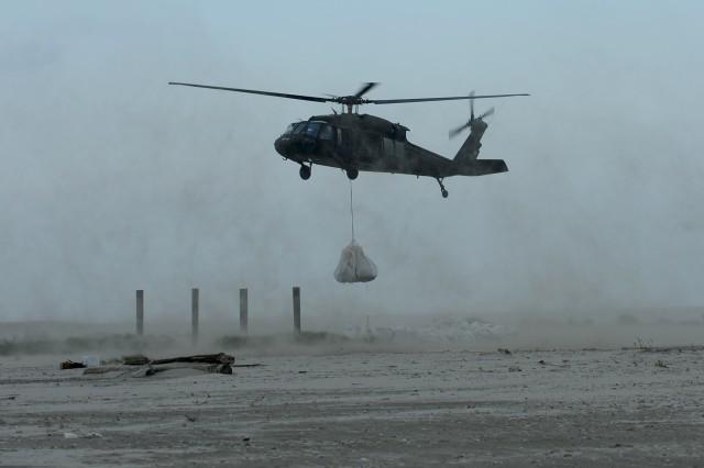 National Guard engineers work to protect Louisiana coastline
