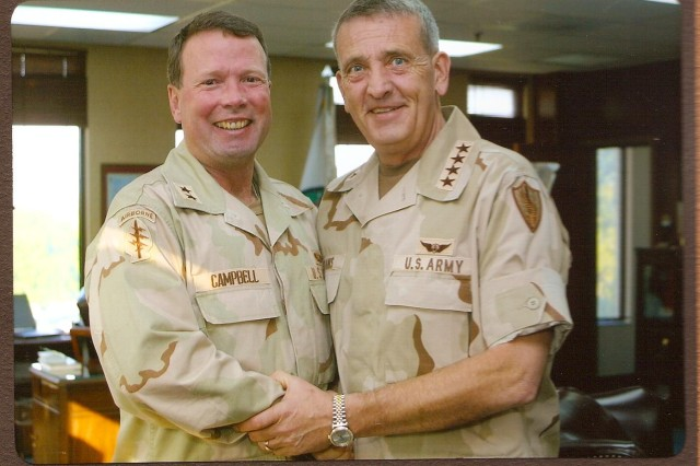 As a major general, Campbell served as the chief of staff of U.S. Central Command (CENTCOM) under the leadership of then CENTCOM commanding general, Gen. Tommy Franks.