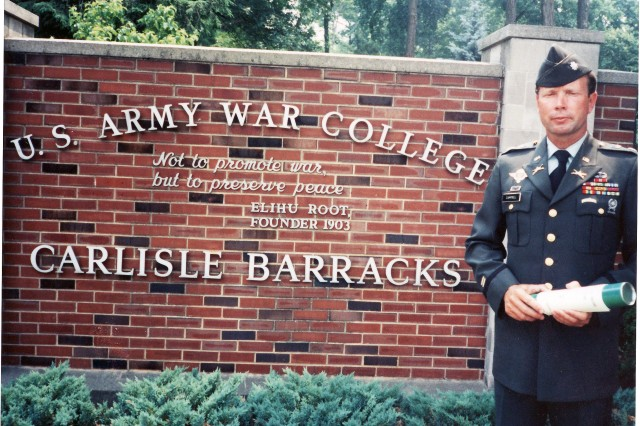 Lt. Col. Campbell at the time of his graduation from the Army War College in 1991.