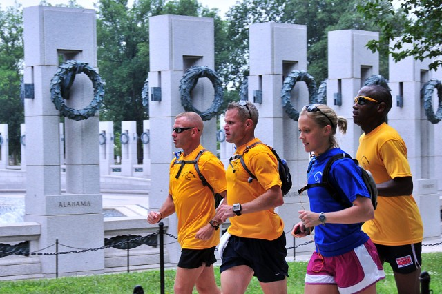 Guard officers run 550 miles for resiliency