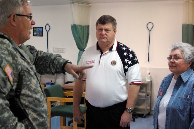 Top American Legion officials visit troops in Kosovo