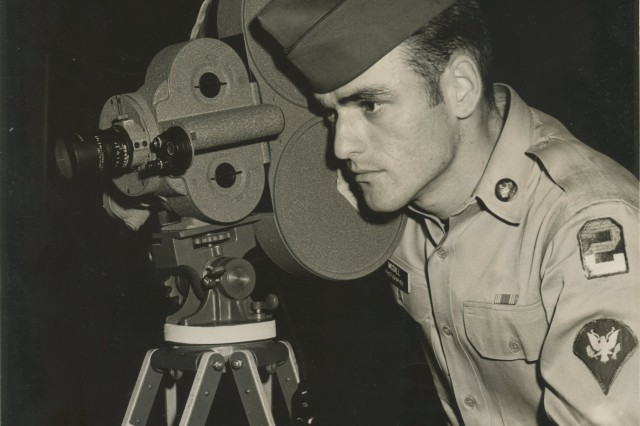Melvin McDill, pictured here in 1963, was stationed on Fort Jackson as a documentary photographer. He later became an administrative specialist