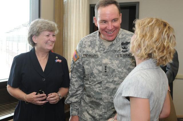 Lt. Gen. Benjamin Freakley with the Maudes
