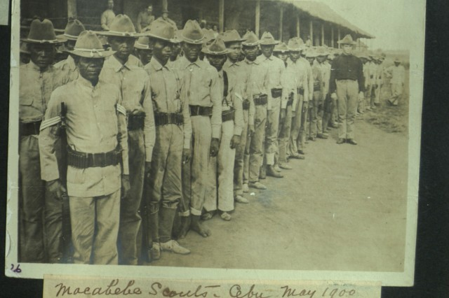 Scouts! Professional Macabebe soldiers: the Macabebe Scouts in Cebu. (Heller Collection).