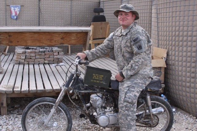 Deployed Soldier finds home with an old motorbike