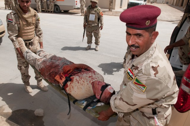 Car bomb exercise completes Iraqi medic trauma training