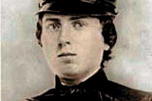 1st Lt. Alonzo Cushing, commander of Battery A, 4th U.S. Artillery, was recognized with the Medal of Honor for his actions on Gettysburg's Cemetery Ridge on the third day of the Battle of Gettysburg during the Civil War.