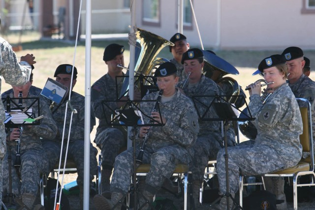 Members of the 36th Army Band perform during today's Army 235th birthday celebration at Fort Huachuca's museum.
