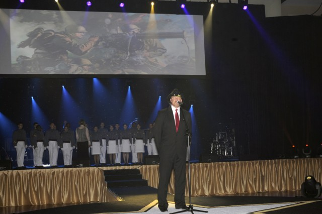 Trace Adkins, American Country music artist, performs at the 235th Army Birthday ball on June 12, 2010.