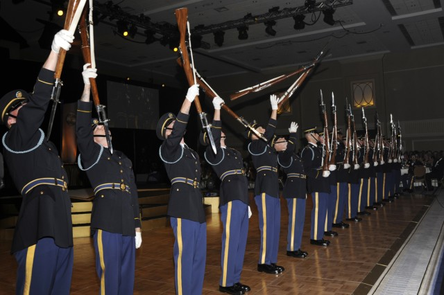 The U.S. Army Drill Team performs at the 235th Army Birthday Ball on June 12, 2010.