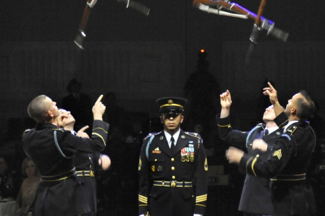 The U.S. Army Drill Team Soloists perform at the 235th Army Birthday Ball, June 12, 2010.