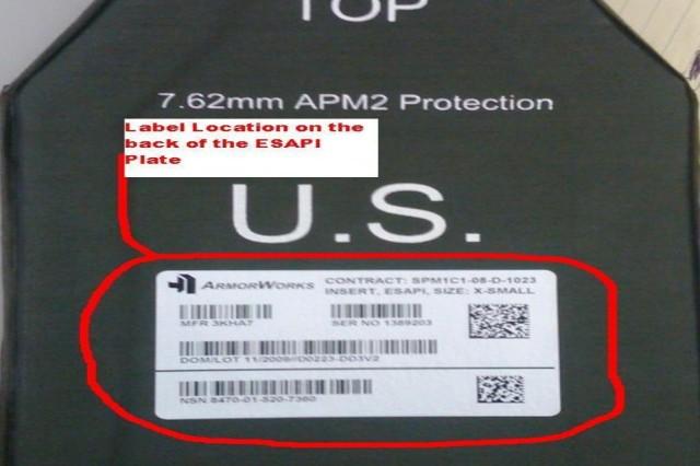 ESAPI plate