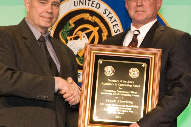 Frank Dowling, MICC, Fort Hood (Texas) Directorate of Contracting, was presented the Outstanding Contracting Officer, Installation Level Contracting - Center Award.