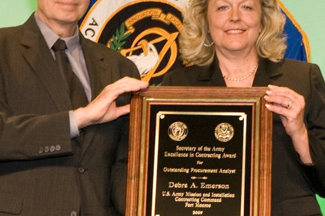 Debra Emerson, MICC, Fort Monroe, Va., received the Outstanding Procurement Analyst Award.
