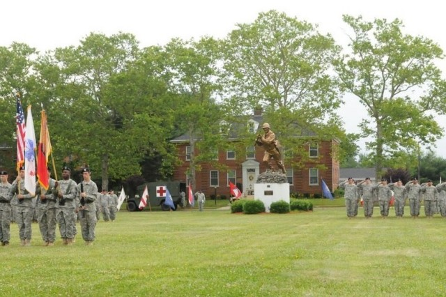 FORT DIX, N.J. – Soldiers of the 77th Sustainment Brigade stand in formation during the Assumption of Command ceremony at Sharpe Field here June 12. The mission of the 77th Sust. Bde. is to plan, prepare, execute and assess CSS operations within a corps or theater area of operation in order to support Joint, Inter-agency and Multinational forces as required. (U.S. Army photo by Sgt. 1st Class Jose Gonzalez, 77th Sustainment Brigade Unit Public Affairs Representative)